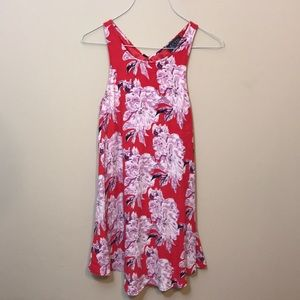 [astr] Red & Purple Floral Halter Dress